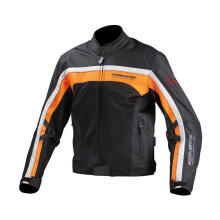 KOMINE JK-094 Riding Mesh CONRAT Jaket Touring Pria - Black Orange