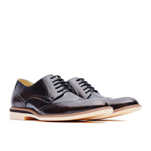 LIFE 8 Formal Casual Embossed Leather Derby Shoes - Bronze
