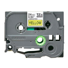 BROTHER Label Tape TZE-651 24MM Black on Yellow