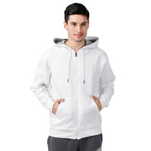 CHAMPION Powerblend Fleece Full Zip Jacket - White