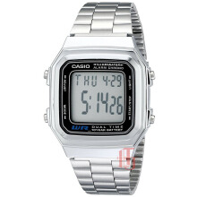 Casio Illuminator D38H271A178WAS Digital Multi Fungsi Jam Tangan Unisex Stainless Steel Chain Silver