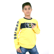 BATMAN Long Sleeve Batman Basic T-Shirt Yellow - BM3010B018B