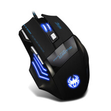 BESSKY 7 Button LED Optical USB Wired 5500 DPI Gaming PRO Mouse For Pro Gamer_ Black
