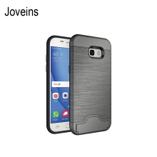 Joveins Samsung A5 2017 Case Shockproof of Heavy Duty Full Protective Cover with Kickstand Dual Layer Wallet Design Case