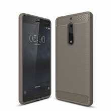 VEN Nokia 6 Case Soft TPU Luxury Full Cover Protective Carbon Fiber Brushed