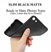 Slim Black Matte Case for Samsung A8 2018