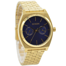 Nixon Stainless Steel Chain Ladies A9222347-2970D36GLDBR Multi Fungsi Gold Biru Gold