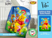 Selimut Vito Kids Sutra Panel 100x140cm Pooh new - Orange
