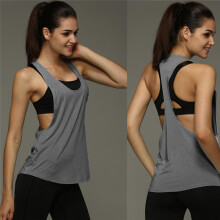 BESSKY Women Summer Sexy Loose Gym Sport Vest Training Run _