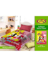 Selimut Rosanna Sutra Panel 150x200 Mickey Minnie - Multicolor