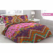 Sprei Bantal 2 Vito Disperse 180x200cm Classic Flower - Purple