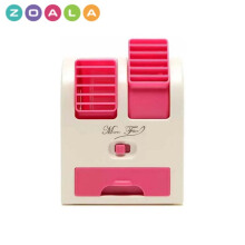 ZOALA AC Duduk Mini Portable - Double Blower Mini AC - Kipas Angin Travel - Pink-MF-BP-P