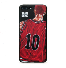 Ins I-20 TPU 3D painted relief Slam Dunk IPHONE 7/8 case cover-Black