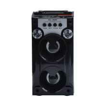 BESSKY Bluetooth LED USB AUX TF FM Radio Portable Outdoor Wireless Super Bass Speaker_ Black