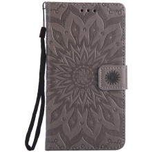 Sannic Samsung Galaxy Note4 Phone Case Sun Flower PU Leather Casing Emboss Flip PU Leather Stand Cover Cases