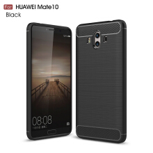 Smatton Case hp HUAWEI Mate 10 Luxury Shockproof Case Carbon Fiber For Soft TPU Full Protect Ultra Thin Case shell