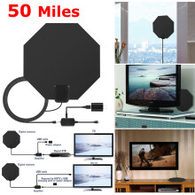 Blitzwolf 10ft Cable Flat HD TV Digital Indoor Amplified Antenna With External Amplifier   -  -