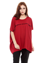 Yoenik Oversize Square Top Maroon - M13094 R26S2 (All Size)