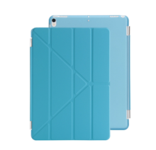 Ins I-0384P  artificial leather Hard Core sheerApple Ipad pro10.7 protective cover&Y stand-Light Blue