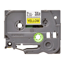 BROTHER Label Tape TZE-S621 9MM Strong Adhessive Black on Yellow