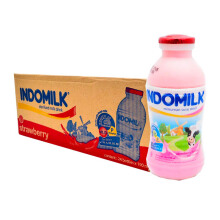 INDOMILK  UHT Strawberry Carton 190 ml x 30 pcs