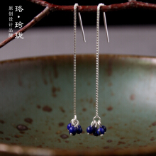 Luo  Ling  LongSilver sterling silver natural earrings long earrings