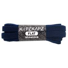 KIPZKAPZ FS50 Flat Shoelace - Navy [8mm] Blue 140 cm