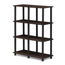 FUNIKA x FURINNO 16104WN/BR - 6 Space Shelf Walnut Coklat