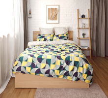 ESPRIT Sprei Set King - Optical Puzzle / 180x200x36cm