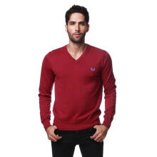 Fredperry Men Purple V-Neck Sweatshirt - XXL Size