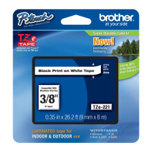 BROTHER Label Tape TZE-221 9MM Black on White