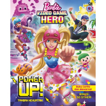 Barbie Video Game Hero: Tambah Kekuatan! (Power Up) *Buku Mewarnai - Mattel - 9786020375885