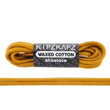 KIPZKAPZ WS21 Waxed Cotton Round Shoelace - Dark Gold [3mm]