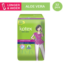 KOTEX Fresh Liner Longer & Wider Aloe Vera 32s