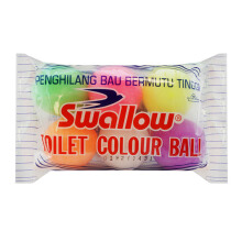 SWALLOW Toilet Kamper Colour Ball Random Color 6 pcs