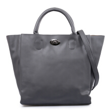 HUER Kiarra 3 Spaces Handbag - Grey [One Size]
