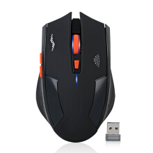 OAC Wireless Mouse Rechargeable Slient Buttons Computer Mouse 2400DPI Gaming Mice Built-in Lithium Battery 2.4G Optical Engine M Black