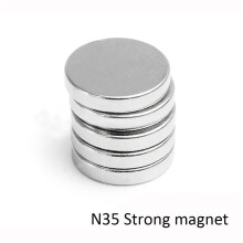 BESSKY 100x N35 Super Strong 10mm x 2mm Round Disc Magnets Rare Earth Neodymium Magnet_ Silver