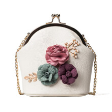 BESSKY Women Fashion Handbag Shoulder Stereo Flowers Bag Small Tote Ladies Purse_