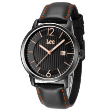 Lee Watch Jam Tangan Pria Lee Metropolitan Gents Kulit Hitam M09DBL1-1R