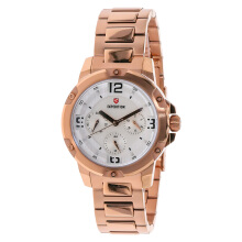 Expedition Ladies White Dial Stainless Steel [EXF-6698-BFBRGSL] Rose Gold