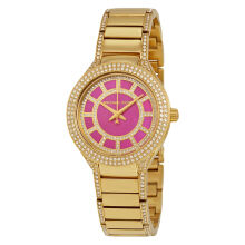 Michael Kors Mini Kerry Fuchsia Dial Gold-tone Ladies Watch [MK3442]