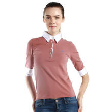 Fredperry Women - Brown 3/4 Sleeves Polo wt White Collar