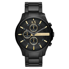 Armani Exchange Chronograph Black Dial Black Stainless Steel [AX2164] Black