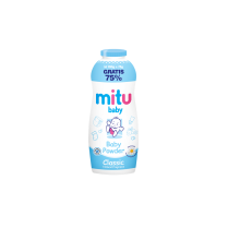 MITU Baby Powder Botol 200 g - Blue