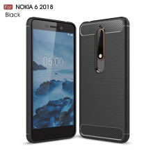 Smatton Case hp Nokia 6 2018 Luxury Shockproof Case Carbon Fiber For Soft TPU Full Protect Ultra Thin Case shell
