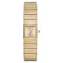 Diesel Ruki Ladies Sunray Dial Gold-tone Stainless Steel with Crocodile-embossed [DZ5485]