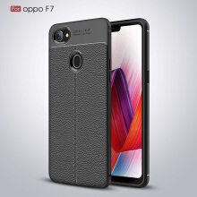DELIVE OPPO F7 Full Cover Luxury Shockproof Soft TPU Leather Slim Thin Case