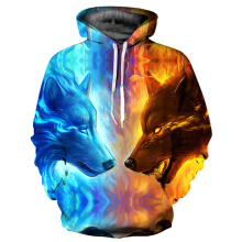 Men's Stylish 3D Print Long Sleeve Hoodie