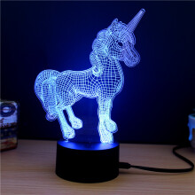 AOSEN M.Sparkling TD261 Creative Animal 3D LED Lamp Colorful